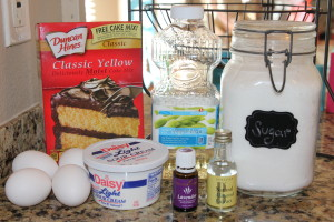 Lavender Almond Bundt Cake Ingredients