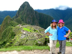 Brittany and Leigh in Machu Picchu
