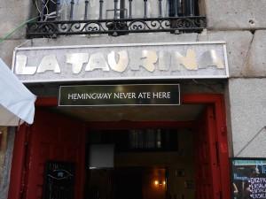 Hemingway never ate here www.thesweetwanderlust.com