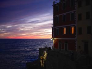 Sunset from our Brezza Marina, Riomaggiore Cinque Terre www.thesweetwanderlust.com